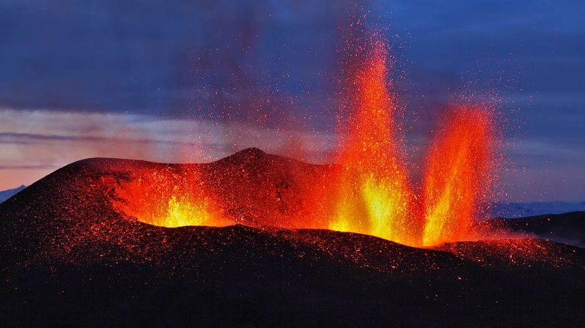 「フィムヴォルズハウルスの噴火」アイスランド