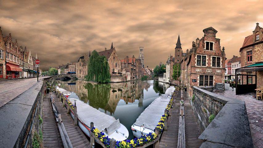 「ブルッヘの運河」ベルギー, ブルッヘ