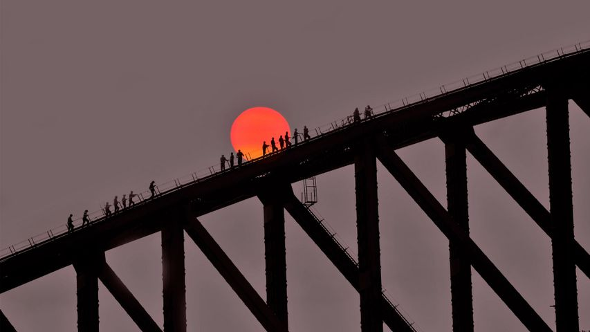 「ハーバーブリッジ」オーストラリア, シドニー
