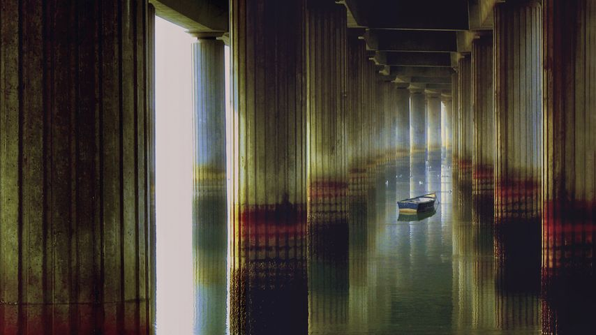 「オディエル川の橋の下」スペイン, ウエルバ