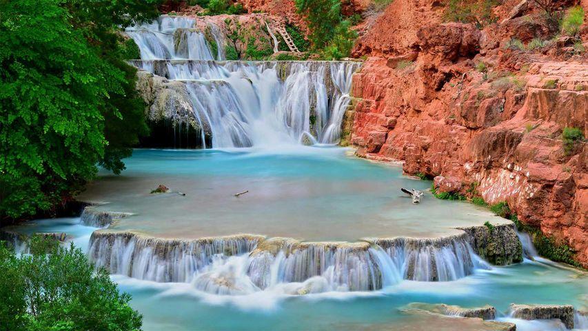 「ビーバー滝」米国アリゾナ州, グランド・キャニオン