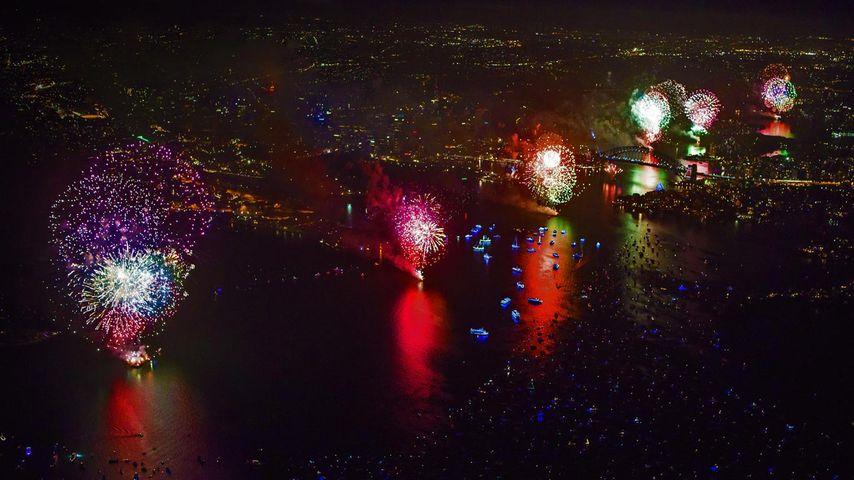 「シドニー・ハーバーブリッジの花火」オーストラリア, シドニー