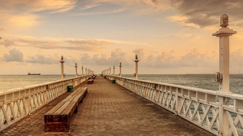 「イラセマ・ビーチの桟橋」ブラジル, セアラー州