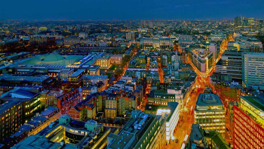 「大英博物館とその周辺」イギリス, ロンドン