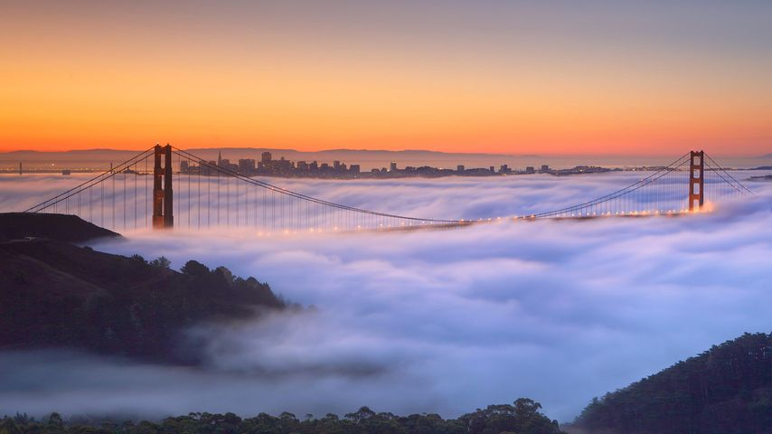 「霧の金門橋」アメリカ, サンフランシスコ