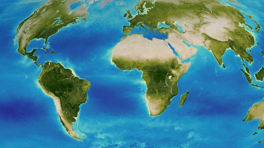 「世界地形地図」NASAゴダード宇宙飛行センター