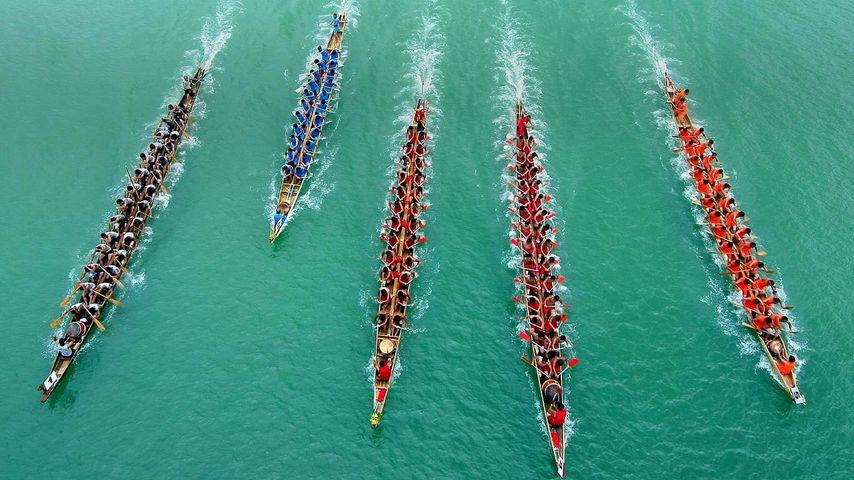 「ドラゴンボート・フェスティバル」中国, 広西チワン族自治区, 柳州市