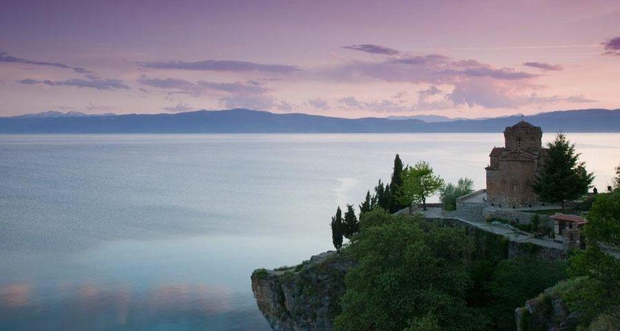 「カネオ聖堂とオフリド湖」マケドニア, オフリド