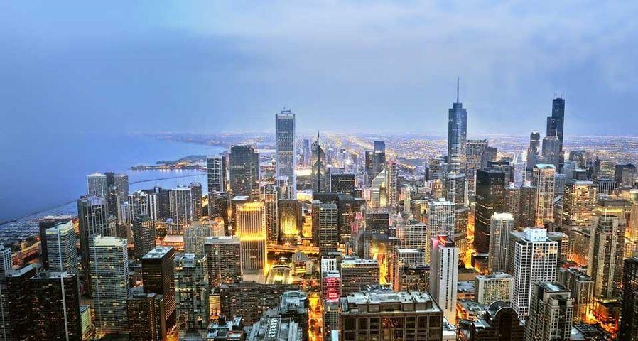 「シカゴの夕暮れ」アメリカ, イリノイ州