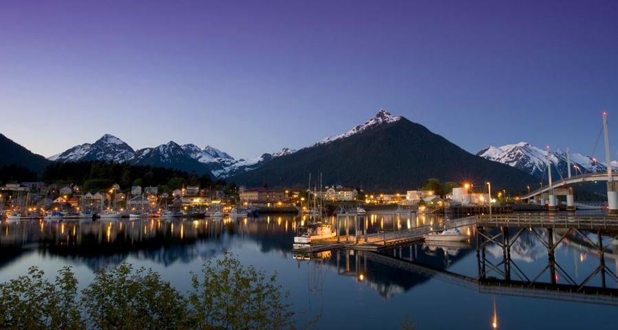 「シトカの夕景」アメリカ, アラスカ