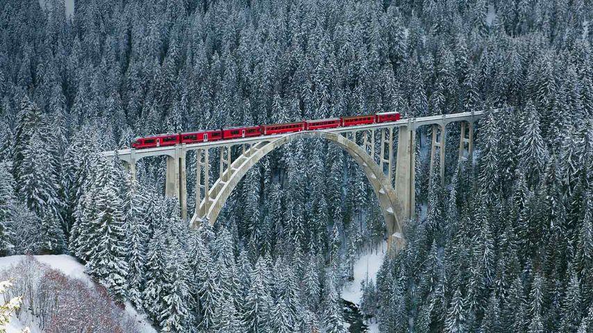「ラントヴァッサー橋」スイス