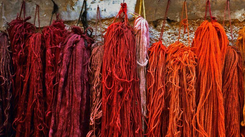 「染色された毛糸」イタリア, ローマ
