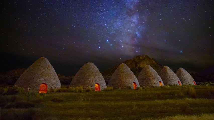 「ウォード・チャコール・オーブンズ州立歴史公園」米国, ネバダ州