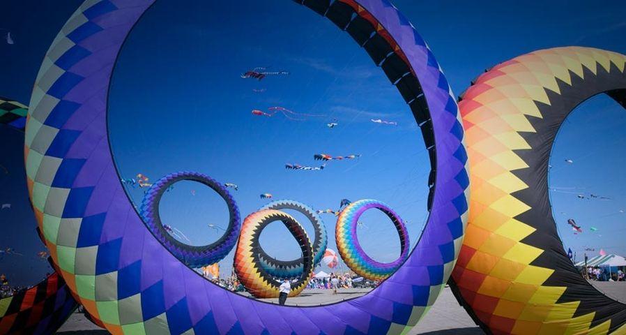 「国際カイト・フェスティバル」アメリカ, ワシントン州, ロングビーチ
