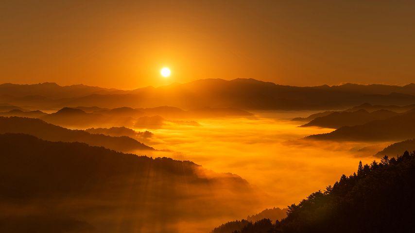 「野迫川村の日の出」奈良