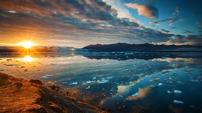 「ヨークルスアゥルロゥン」アイスランド