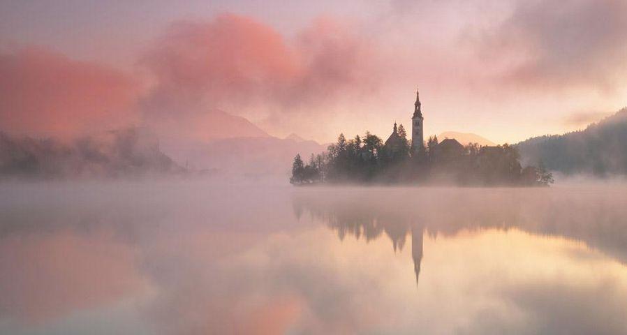 「ブレッド湖」スロヴェニア