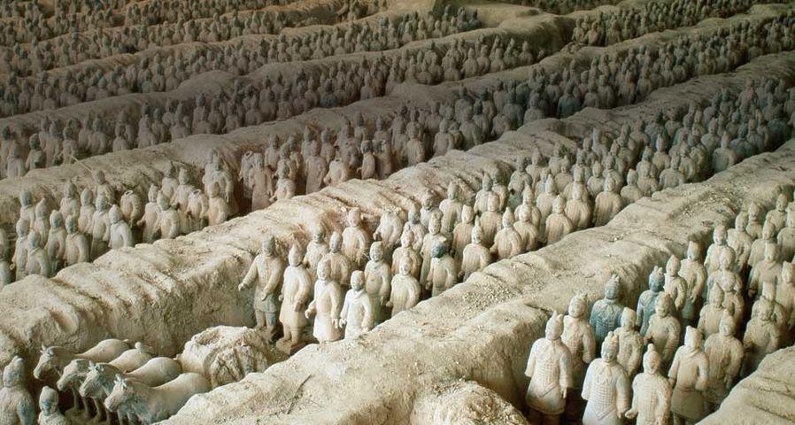 「西安の兵馬俑」中国, 西安市