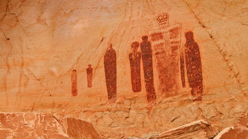 「グレートギャラリーの岩絵」アメリカ合衆国, ユタ州