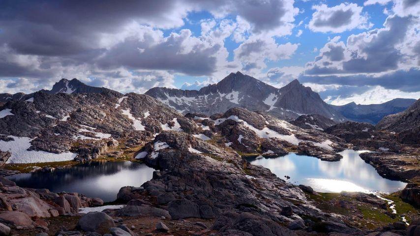 「ベア湖盆地」アメリカ, カリフォルニア州, シエラ・ハイ・ルート
