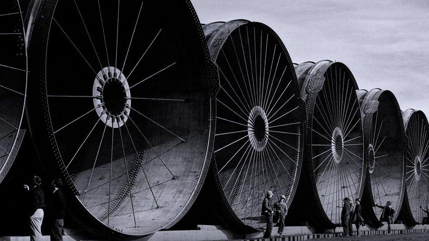 「フォート・ペック・ダム建設現場」アメリカ, モンタナ州