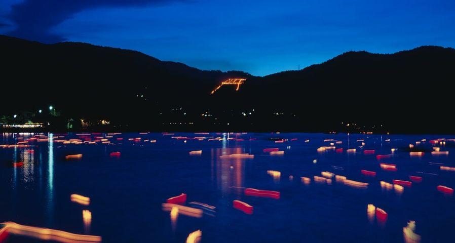 「五山の送り火」京都, 広沢池