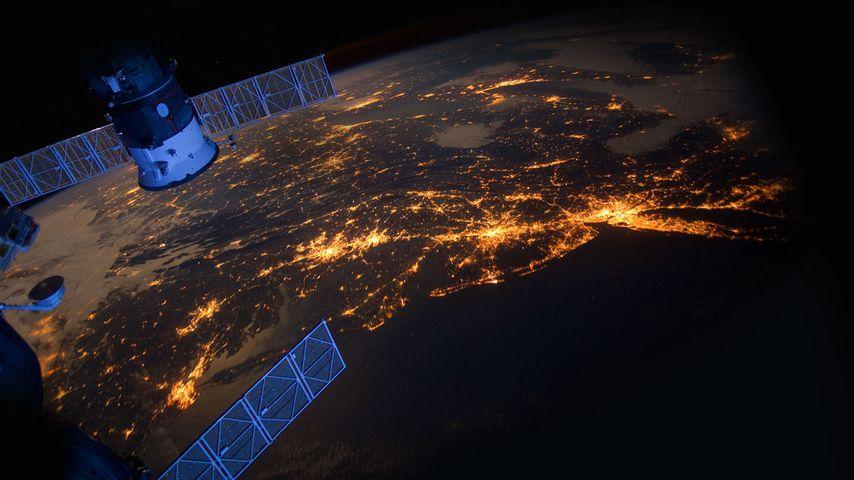 「ISSから見たアメリカ東海岸」国際宇宙ステーション