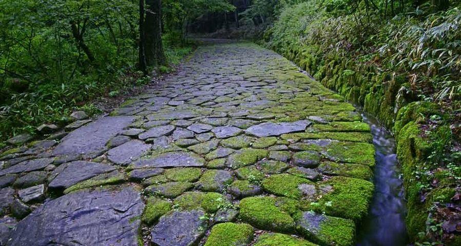 「落合の石畳」岐阜県, 中津川