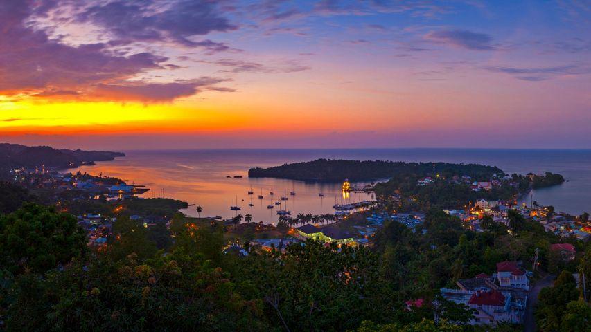 「ポート・アントニオの夕暮れ」ジャマイカ, ポートランド