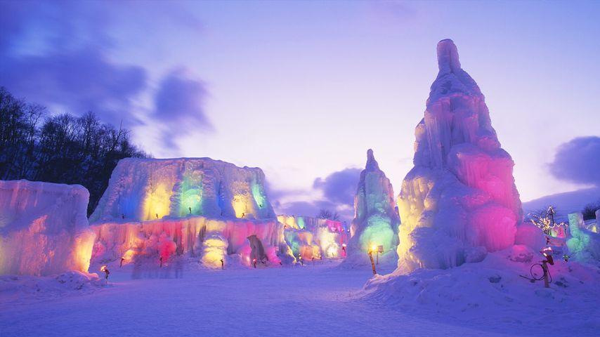 「支笏湖氷濤まつり」北海道,千歳市