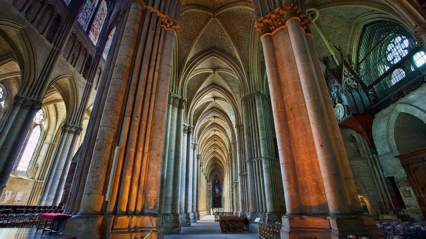 「ランス・ノートルダム大聖堂」フランス, マルヌ