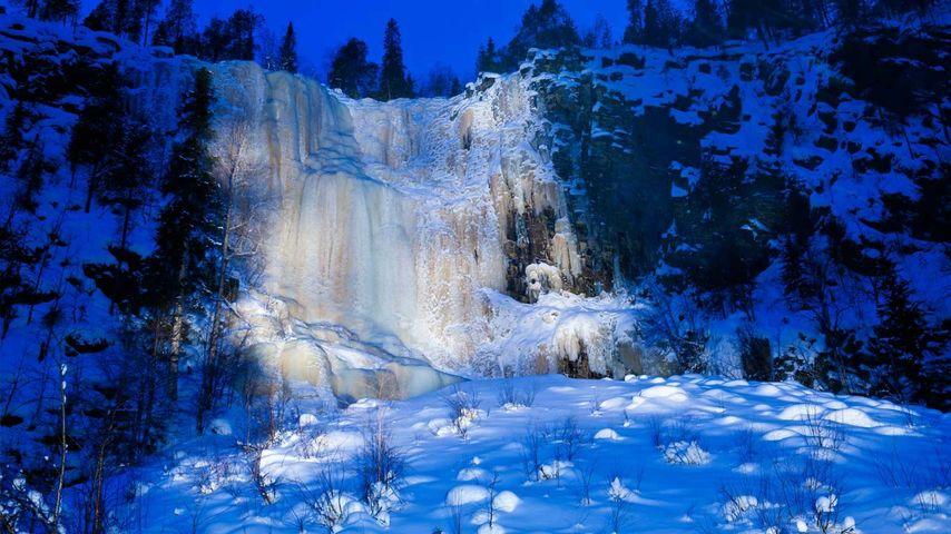 「氷の滝」フィンランド, コロウオマ