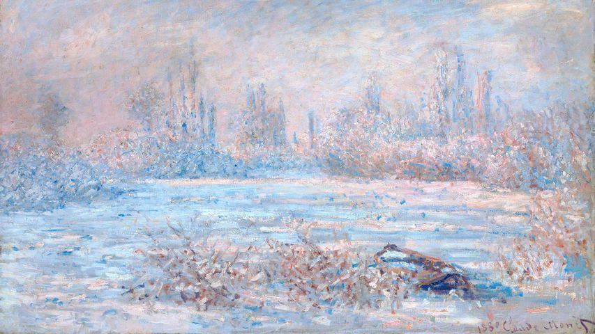 「Le Givre(霧氷)」クロード・モネ, パリ, オルセー美術館