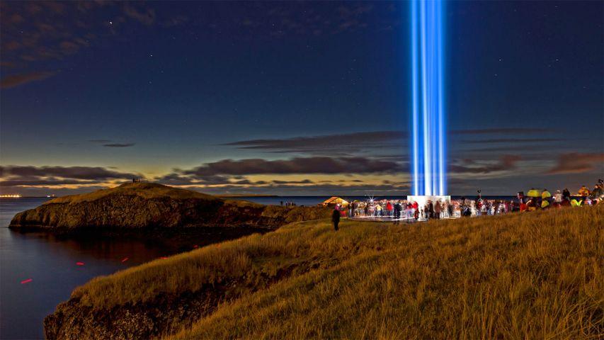 「イマジン・ピース・タワー」アイスランド, レイキャビク
