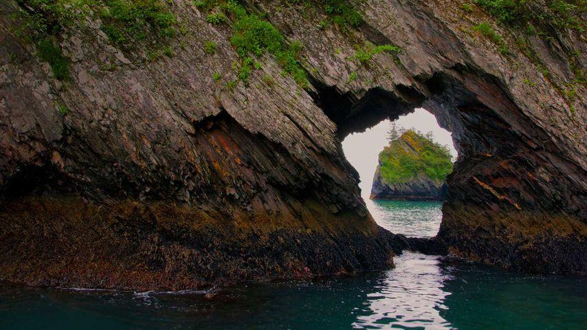 「リザレクション湾」アメリカ, アラスカ州