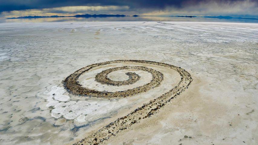 「スパイラル・ジェティ」ユタ州, グレートソルト湖