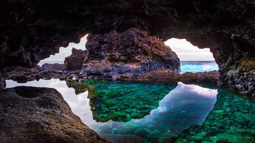 「エル・イエロ島の洞窟」スペイン, カナリア諸島