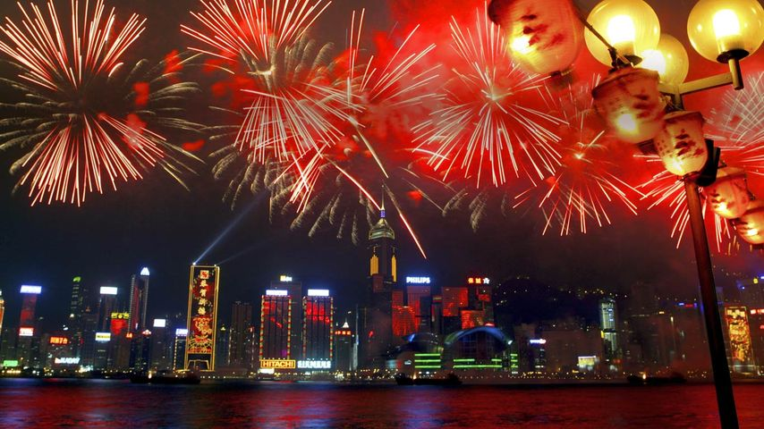 「ビクトリア湾の花火」中国, 香港