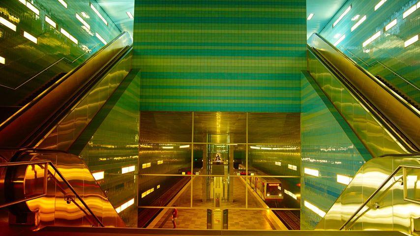 「ユーバーゼークアティア駅」ドイツ, ハンブルク