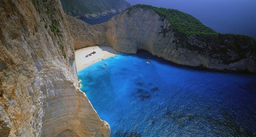 「難破船の浜辺」ギリシャ, ザキントス島