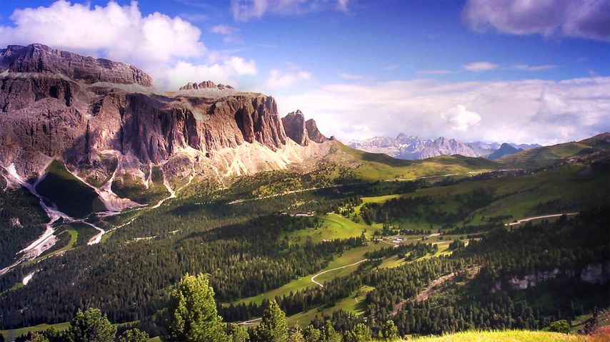 「ガルデーナ峠」イタリア, ドロミーティ