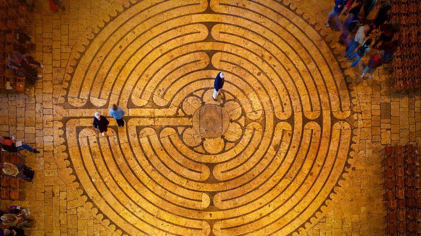 「シャルトル大聖堂のラビリンス」フランス, シャルトル