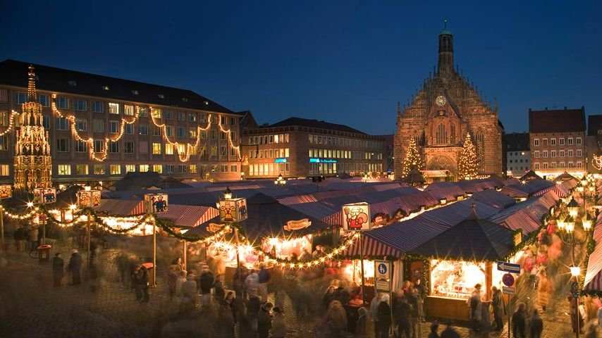 「ニュルンベルクのクリスマスマーケット」ドイツ, バイエルン州