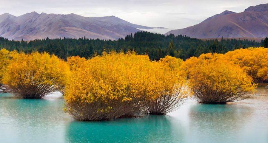 「氷河湖」ニュージーランド, 南島