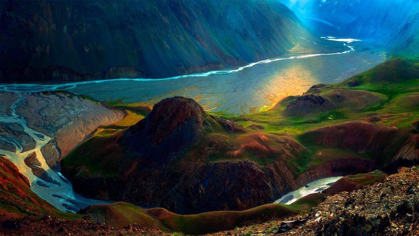「夏のヒマラヤ山脈」インド, ラダック