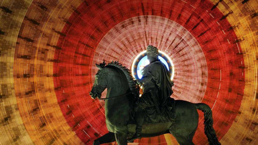 「ルイ14世騎馬像」フランス, リヨン