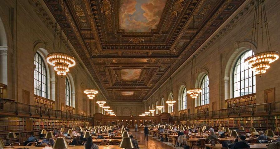 「ニューヨーク公共図書館」アメリカ, ニューヨーク