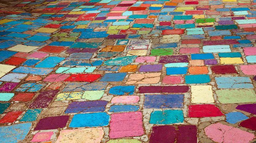 「スパニッシュヴィレッジ・アートセンターの敷石」