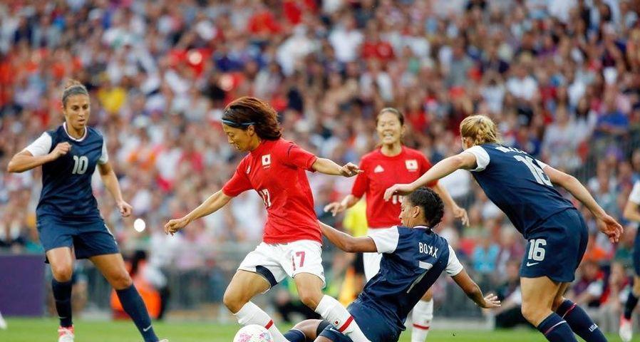「日本対アメリカ、大儀見優季選手」ロンドン五輪, サッカー女子決勝