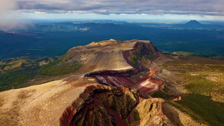 「タラウェラ山」ニュージーランド, 北島